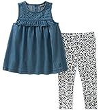 Calvin Klein Baby Girls Tunic Leggings Set, Wash Blue/Print, 24M