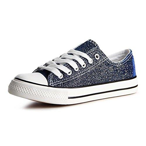 topschuhe24 789 Damen Sneaker Turnschuhe Blau