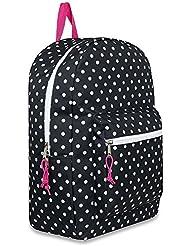 17 Trailmaker Backpack Bookbag- black Polka dot