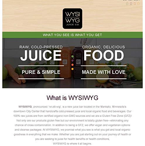 WYSIWYG Cold Pressed Plant Powered STRAIGHT UP Celery Juice 16 oz Bottles by WYSIWYG Juice Co. (Image #2)