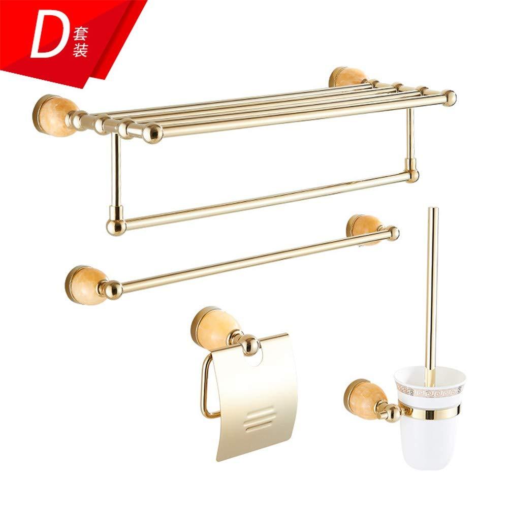T-YSPJ T-YSPJ T-YSPJ Sistema europeo del colgante del hardware del estante de toalla del cuarto de baño del estante de toalla del cobre del oro, D edbd84