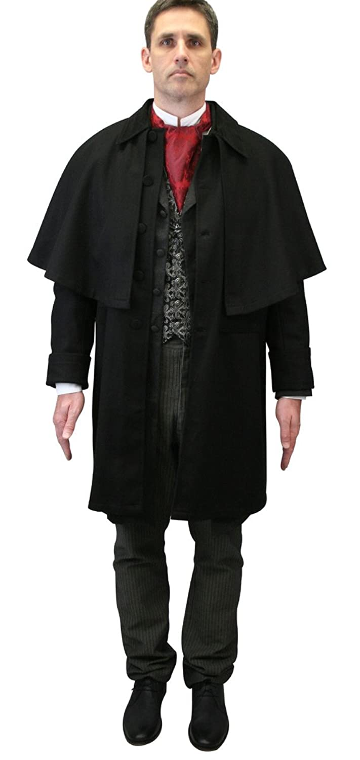 Victorian Men's Clothing, Fashion – 1840 to 1900 Historical Emporium Mens 100% Wool Coburn Great Coat $181.95 AT vintagedancer.com