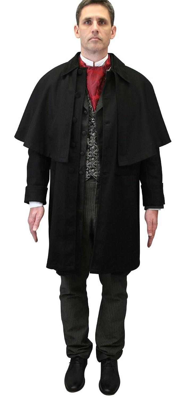 Victorian Men's Costumes: Mad Hatter, Rhet Butler, Willy Wonka Historical Emporium Mens 100% Wool Coburn Great Coat $181.95 AT vintagedancer.com