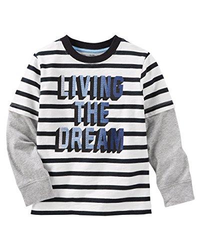 Layered Look Stripe Shirt (OshKosh B'gosh Boys' Layered-Look Tee (2T, Stripe))