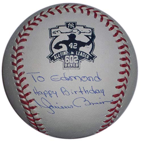 Mariano Rivera Autographed Baseball - All Time Saves Leader 602 Logo Happy Birthday - Autographed ()