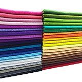 flic-flac 42pcs1.4mm Thick Soft Felt Fabric Sheet
