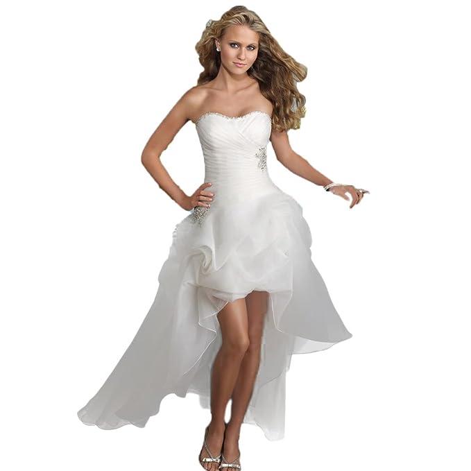 Vestido blanco corto novia