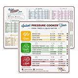 Electric Pressure Cooker Cook Times Quick Reference Guide Compatible with Instant Pot | Instapot Accessories Magnetic Cheat Sheet Magnet Set | Insta Pot Sticker and Decal Alternative | Made in the USA