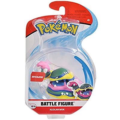 Pokemon 3 Inch Alolan Muk Articulated Battle Action Figure: Toys & Games