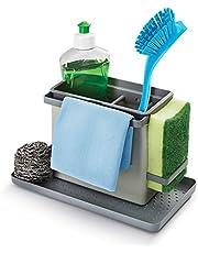 Metaltex Tidy-Tex Kitchen Sink Cleaning/Washing Up Organiser, Grey