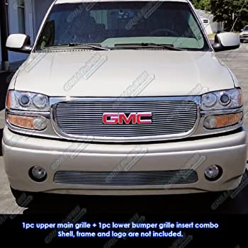 2000 2006 gmc yukon chrome grille grill kit. Black Bedroom Furniture Sets. Home Design Ideas