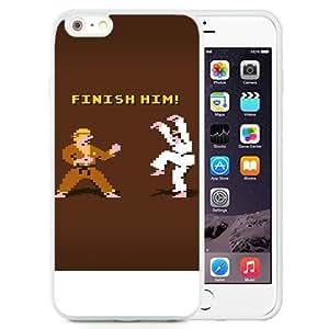 "Beautiful iPhone 6 Plus 5.5"" TPU Cover Case ,Finish Him Iphone Wallpaper White iPhone 6 Plus 5.5"" TPU Phone Case Unique And Durable Designed Screen Case"