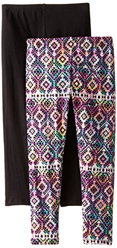XOXO Big Girls' Two-Pack Color and Solid Leggings