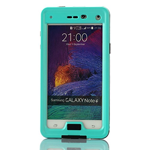 Galaxy Note 4 Case, Galaxy Note 4 Waterproof Case, oneCase™ IP-68 Waterproof Shockproof Snowproof Dirtpoof Protection Case Cover Built-in Kick Stand with Hand Strap & Headphone Adapter for Samsung Galaxy Note 4 (Waterproof-Blue)