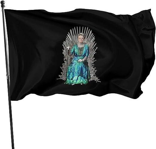 LZHANDA Jardín Banderas Decoración de Exterior, 3x5 Foot Flag Dame Maggie Smith Mother of Witty Comebacks Flag Vivid Color and UV Fade Resistant with Brass Grommets 3 X 5 Feet 3x5 Flag: