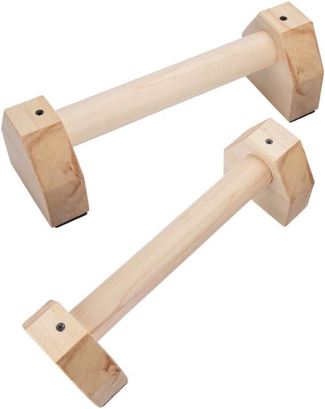 SNOWINSPRING 1 para Holz Fitness Sport Push Up St?nder Pushup Stange Gym /übung Training Brust Stange Handgriff Trainer f/ür Bodybuilding