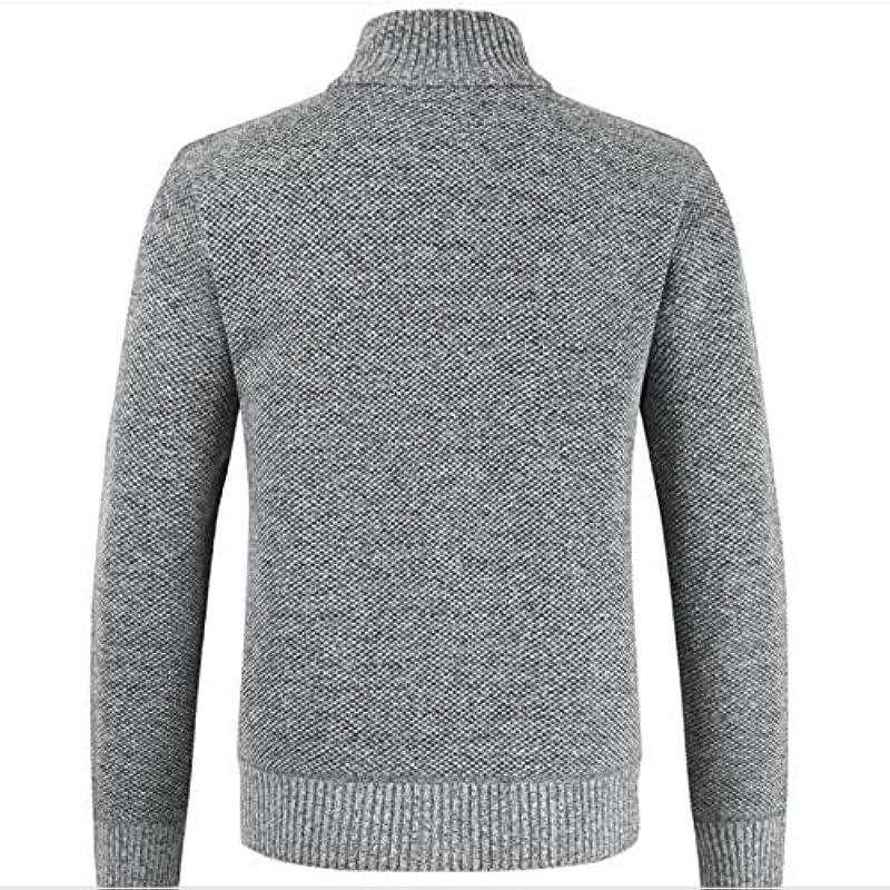 Fashion Cashmere Sweater Men Print Zipper Męskie Pullover für Stehkragen Męskie Cardigan Sweater: Odzież