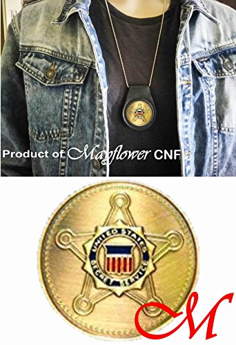 Mayflower CNF Coin &Leather Holder - United States Secret Service, Protection &Investigation - Collecteble