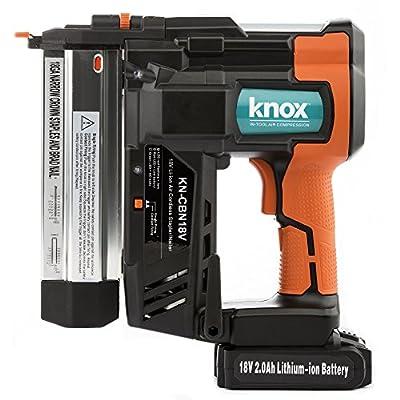 Knox Cordless 18V Li-Ion 2-Inch 18-Gauge Brad Nailer & Stapler w/ 2 Batteries