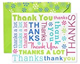 American Greetings Thank You Cards with Envelopes, Multicolored Script (50-Count)