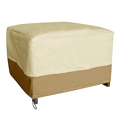 Vanteriam Rectangular Patio Ottoman/Footrest/Side Table Cover-Durable and Waterproof Outdoor Furniture Cover, Size 32.5''(L) x 20''(W) x 18''(H): Kitchen & Dining