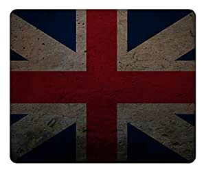 Grunge Union Flag Naval Jack Mouse Pad - Durable Office Accessory Desktop Laptop MousePad and Gifts Gaming mouse pads by runtopwell
