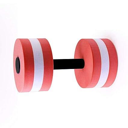 MYGYSJK - 1 mancuerna acuática para Yoga (EVA), Rojo