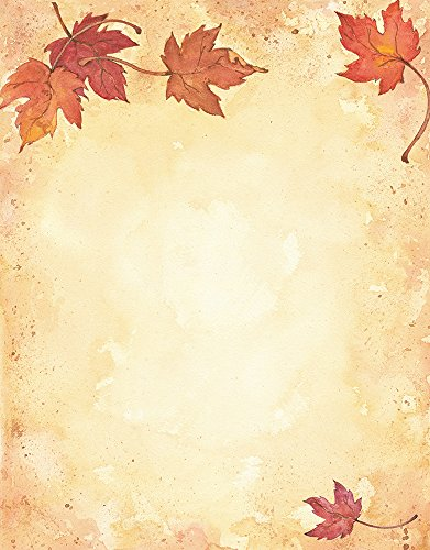 "Great Papers! Fall Leaves Letterhead, Imprintable Stationery, 80 Sheets, 8.5"" x 11"" (2014075)"