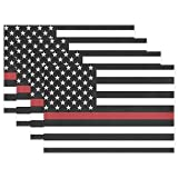 America Firefighter Flag Thin Red Line Patriotic Placemats Set of 6 for Kitchen Table Heat Resistant Washable Table Mats
