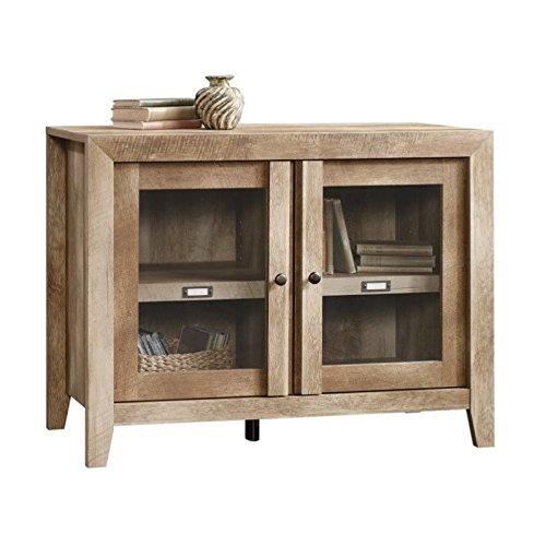Sauder Dakota Pass Display Cabinet, Craftsman Oak finish (Tv Stand Glass Wood With Doors)