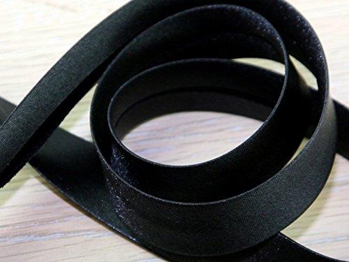 30mm Prym Duchesse Satin Bias Binding Black - per metre