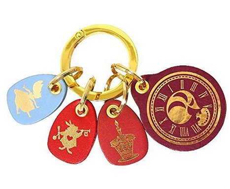 [Disney Fantastic Leather Collection Alice Key Ring bag Accessory Japan F/S] (Cast Member Costumes Disneyland)