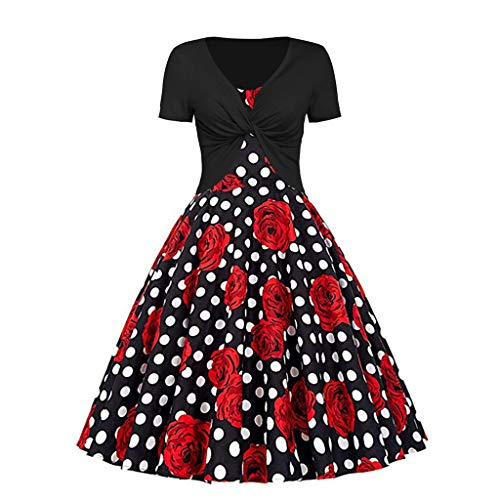 Women Two-Piece Set Dress, AgrinTol Women's Summer Fresh Butterfly Printing Dress Sling Pullover (XXL, Black 2)]()