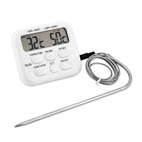 Amazon.com: CHUDAN termómetro digital para barbacoa ...