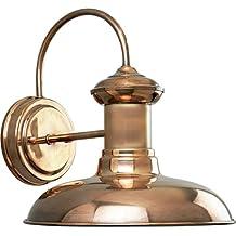 Progress Lighting P5722-14 1-Light Wall Lantern, Copper