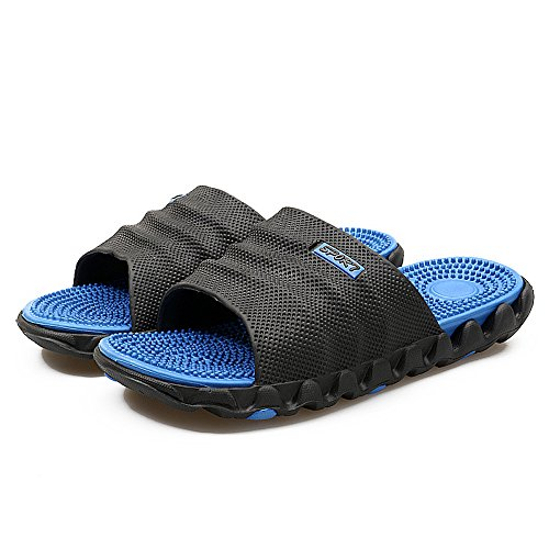Blue Massage Boys Slide Lightweight Home U Reflexology Shoes Swimming Black Mens Slippers Buy Beach Outdoor Pool for Waterproof Health fw8qxEEBUn