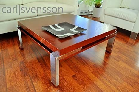 Amazonde Design Couchtisch Tisch Carl Svensson K 222 Weiß Chrom