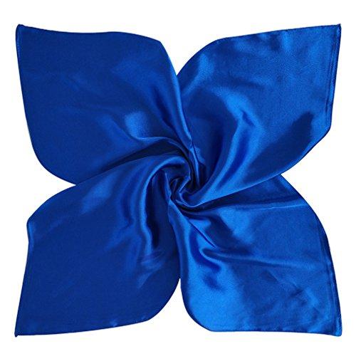 Solid Stylish Satin (DOCILA Fashion Silk Felling Bandana Scarf,Solid Color Satin Square Hijab (RoyalBlue))