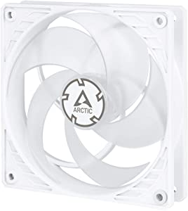 ARCTIC P12 PWM - 120 mm Case Fan with PWM, Pressure-optimised, Very Quiet Motor, Computer, Fan Speed: 200-1800 RPM - White/Transparent