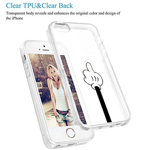 Choc Anti Etui Housse 1 iPhone Transparente vanki Silicone Noir Soft SE Blanc 5S Protection Gel Iphone5 TPU 5S Motif Rayure 5 Souple Anti de Simple Case Coque Cover SE Housse 6qz4qwBx