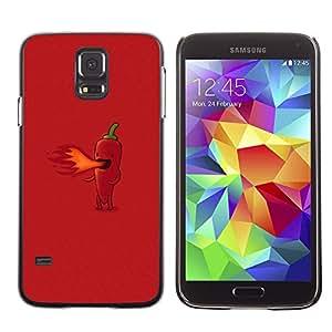 EJOY---Cubierta de la caja de protección la piel dura para el / Samsung Galaxy S5 / --Hot Pepper Fuego divertido