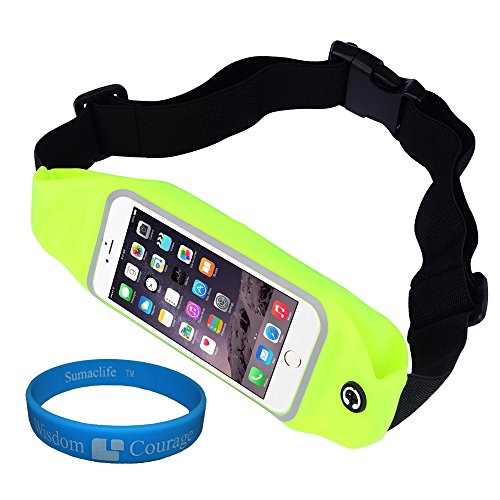 "Adjustable Workout Sport Running Belt Waist Fanny Pack Pouch Bag Case for iPhone 6 (4.7"") / 6S / 5S / BLU Studio Energy / BLU Studio X / G / BLU Vivo Air Smartphone + SumacLife TM Wristband (Green) Review"