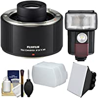 Fujifilm Fujinon XF 2x TC WR Teleconverter with Flash & LED Video Light + Diffuser + Soft Box + Kit