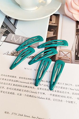 Baby Clip Hairpin Candy Colored Macarons Hair Broken Hair Clip Word Student Delicate issuing Hair pin Comb Claw (Malachite