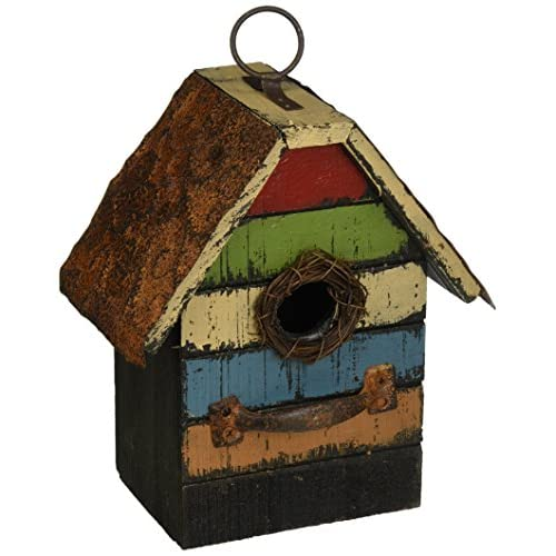 Carson Home Accents Vintage Stripes Birdhouse