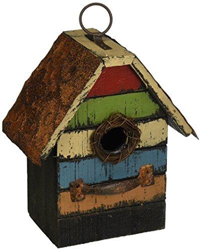 Hanging Decorative Birdhouse - Carson Home Accents Vintage Stripes Birdhouse