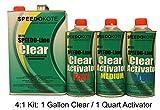 Clear Coat 2K Acrylic Urethane, SMR-1150/1102-Q 4:1 Gallon Clearcoat Medium Kit