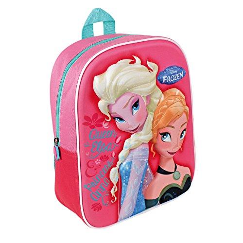 f18eb275f9 Disney Frozen Zaino Asilo E Tempo Libero 3D Elsa E Anna Novita'