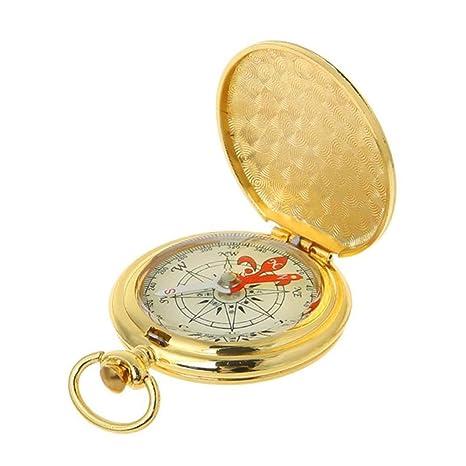 CAMORNY Brújula Reloj de Bolsillo Tirón Brújula Portátil ...