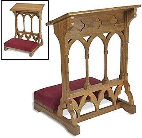 Awesome Oakwood Padded Prayer Kneeler Home Or Church Sanctuary Meditation Furniture  By 1home
